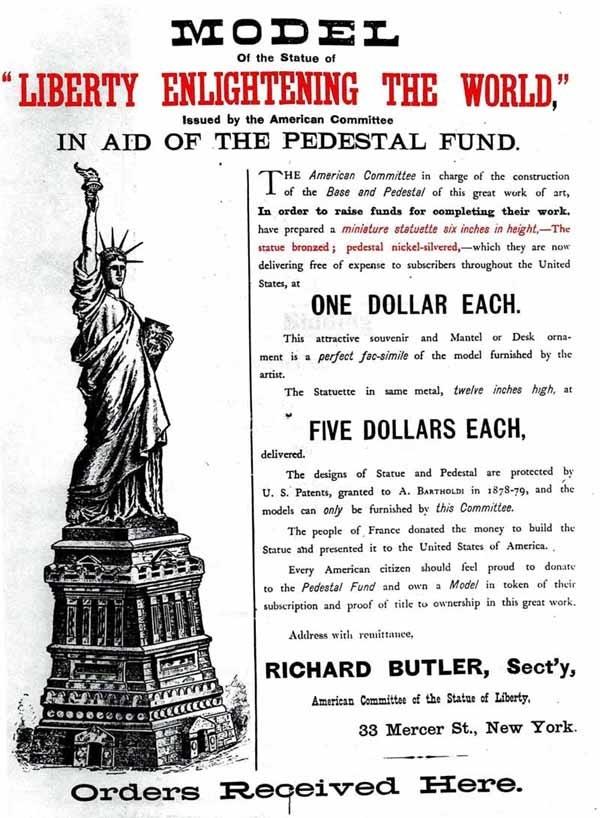 """Statue of Liberty Pedestal """"Kickstarter"""" Campaign"""