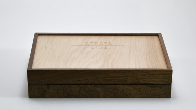 Walnut frame with Maple-faced Birch plywood