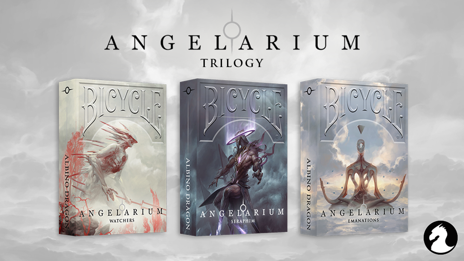 Officially licensed Playing Cards based on Angelarium. Artwork by Pete Mohrbacher. Printed by USPC (Bicycle)