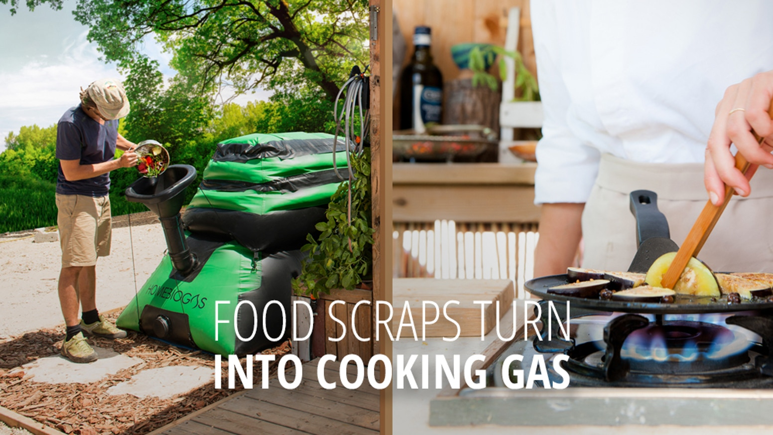 Recycle your food scraps in a completely safe and convenient way AND make renewable energy