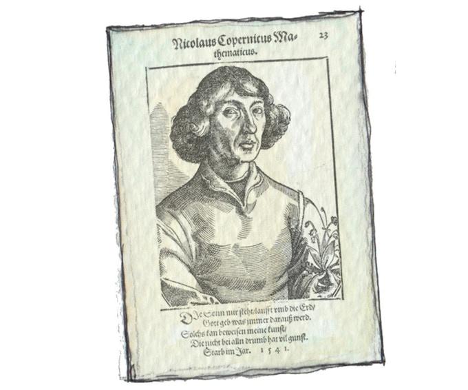 """Gunvorifiert"" Nicolaus Copernicus, som sidder i bogens fakta-sider"