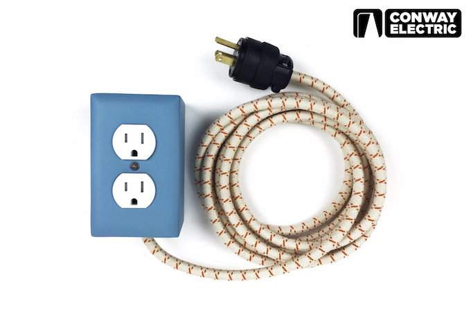 Extō extension cord box by Conway Electric