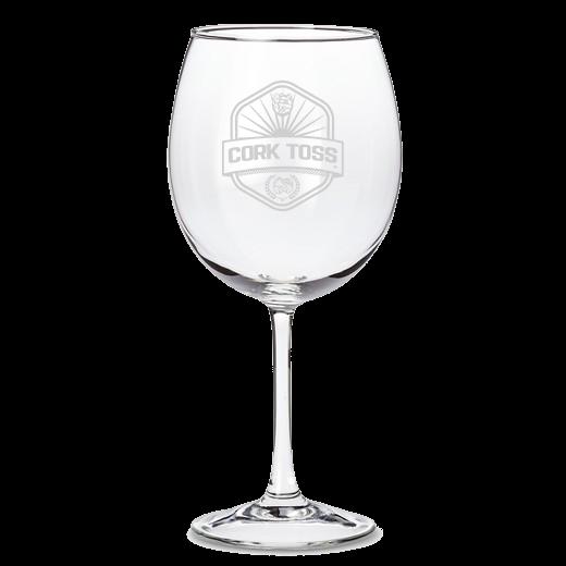 Cork Toss Wine Glass