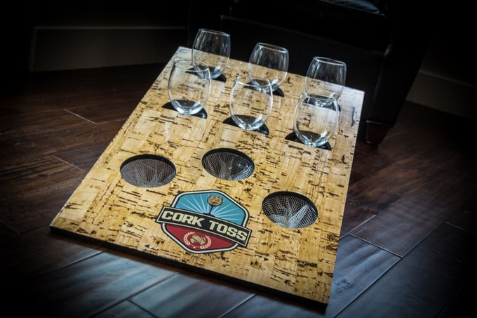 Cork Toss Board (wine glasses not included)