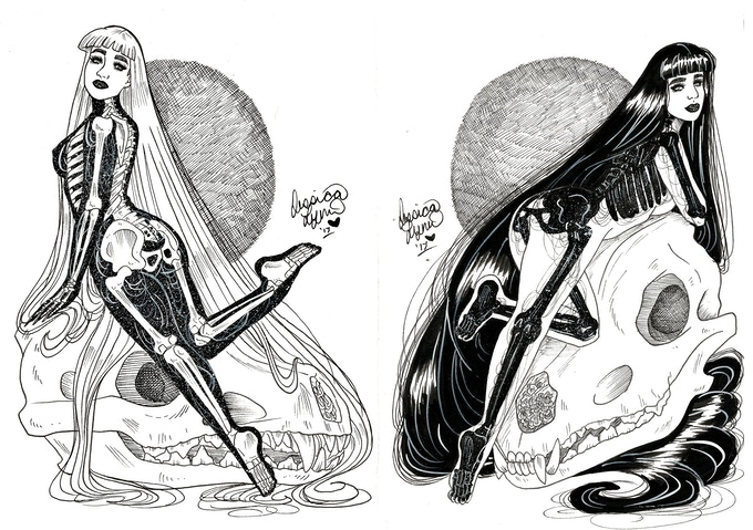 Inverse Twins Inked Pieces from book