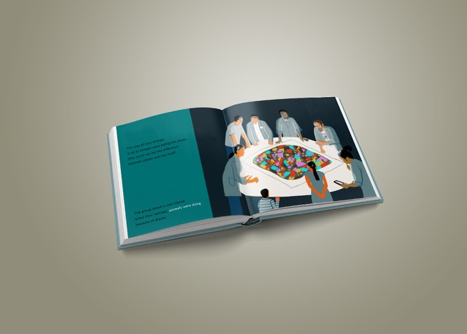 Mock-up of the book