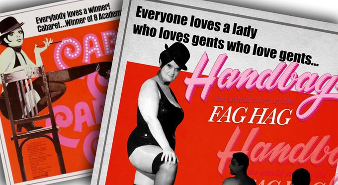 Our HANDBAG poster will be a homage to a classic of 1970s queer cinema - check out our perks to learn how to receive a copy of it!