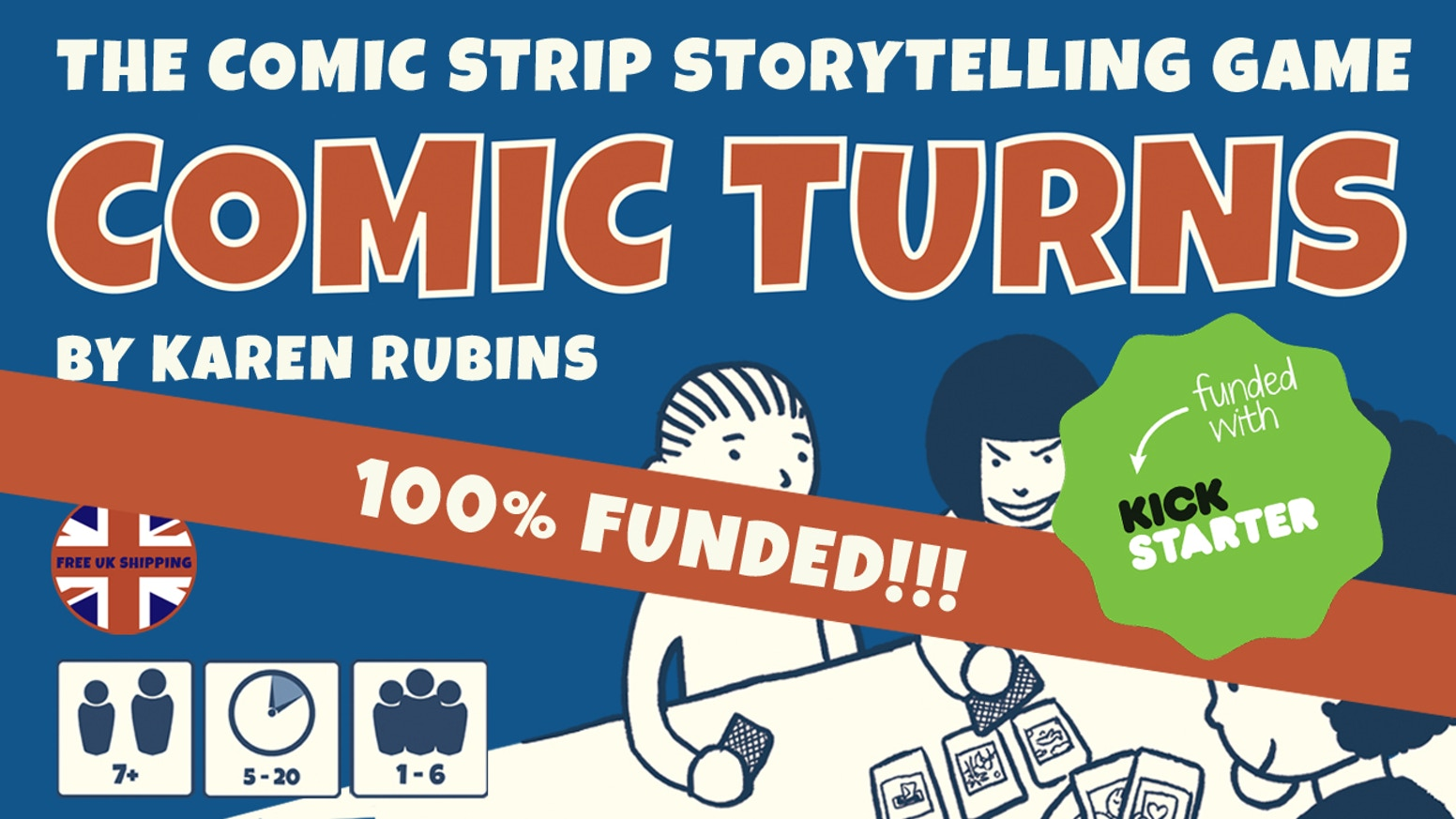The comic strip storytelling game. A creative card game system for kids and adults. 3 ways to play included. Play, create, explore!