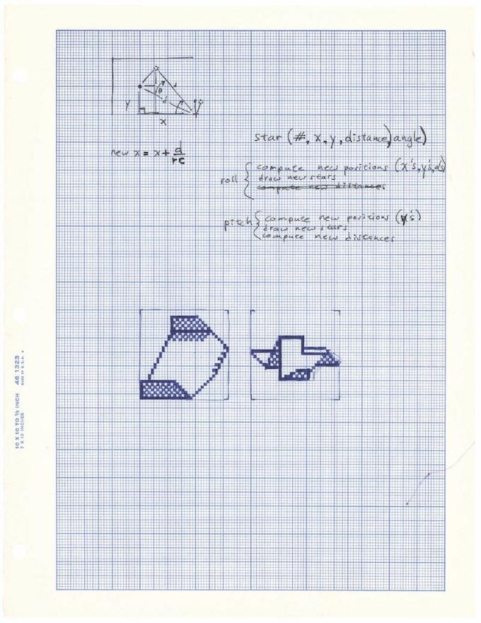 Design sketch from Glider, Soft Dorothy Software, 1988