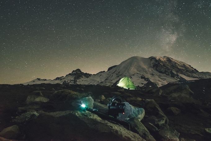 Long exposure time-lapse at Mt. Rainier