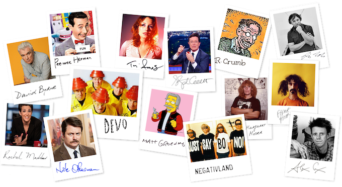 """""""Bob"""" and the Church have caught the attention of many– include David Byrne, Pee-wee Herman (Paul Reubens), Tori Amos, Stephen Colbert, Robert Crumb, Mark Mothersbaugh and DEVO, Matt Groening, Margaret Moser, Rachel Maddow, Nick Offerman, and more."""