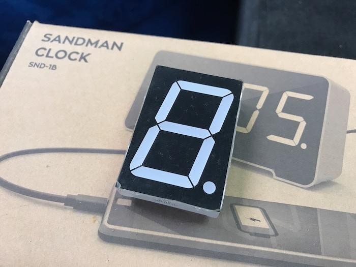 Original Sandman 7-segment display