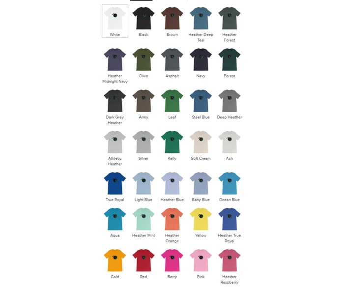 Check out all of the shirt colors!