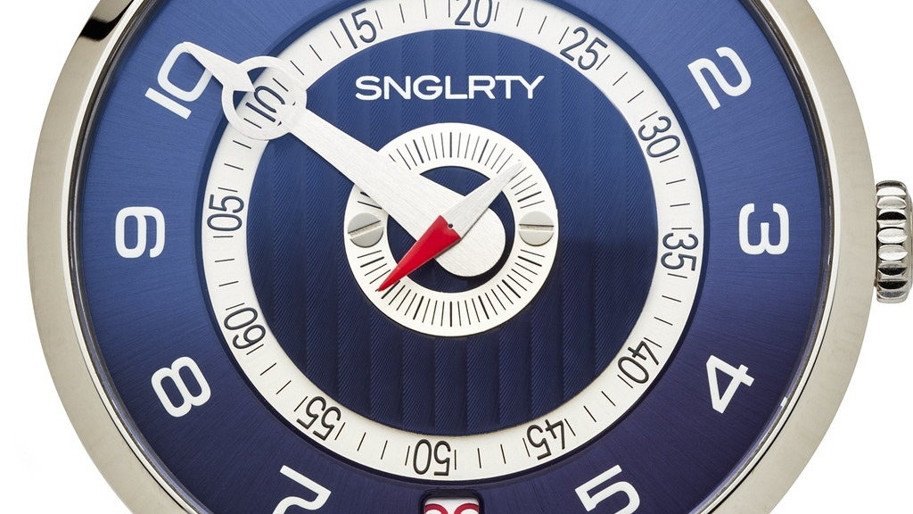 SNGLRTY - Patented Swiss Made Single Handed Watch project video thumbnail
