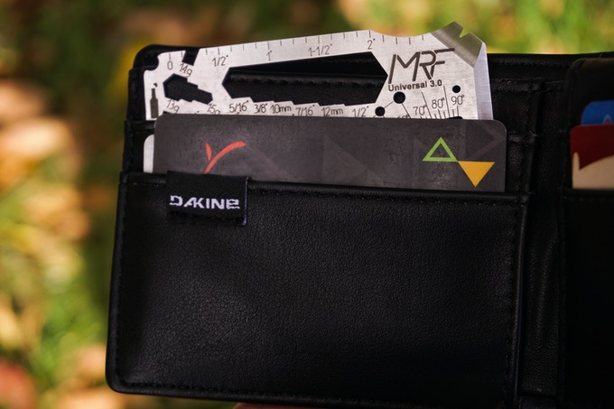 easily fits in your wallet or cardholder