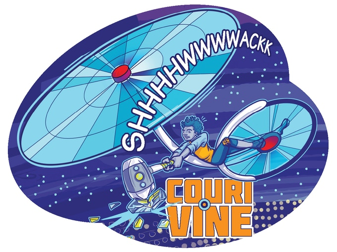 Wyron's Copter Cycle - COURI VINE Sticker!