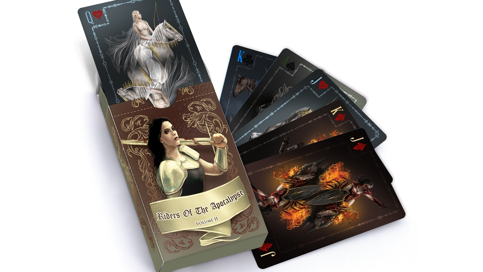 Ace Collectables latest deck of cards. Volume 2 of The Riders of the apocalypse unite in one beautifully illustrated deck.