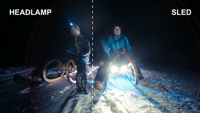 Headlamp vs. SLED