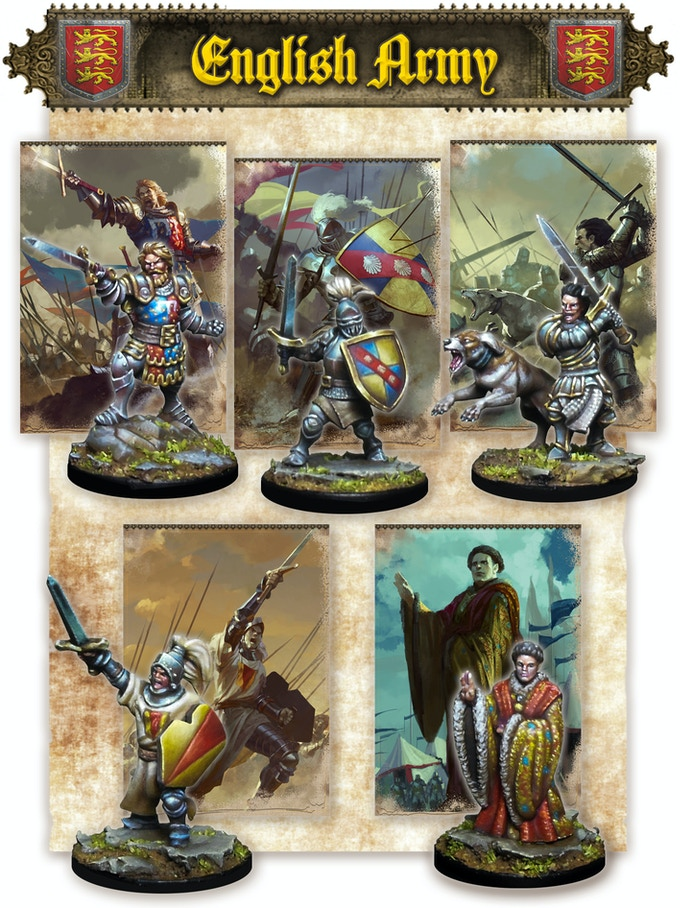 The Black Prince, Falstaff, John Talbot, John Chandos & John of Lancaster (miniatures are supplied assembled and unpainted)