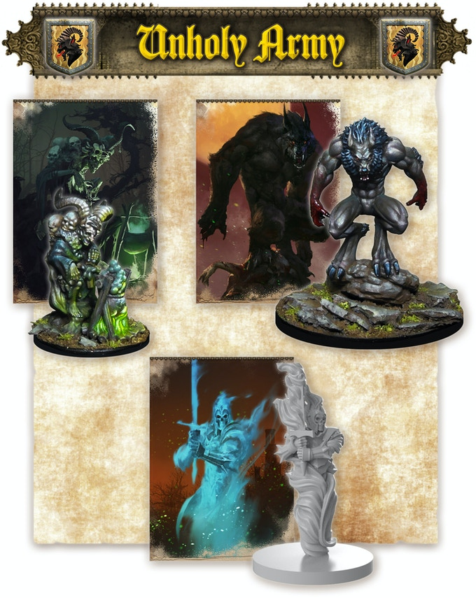 The Witch, the Werewolf & the Ghost Warrior (note that minis come assembled and unpainted)