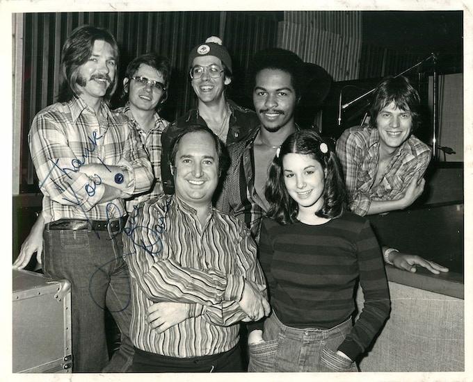 Jay Graydon, David Hungate, Jeff Porcaro, Ray Parker Jr., David Foster, Neil Sedaka and his daughter.