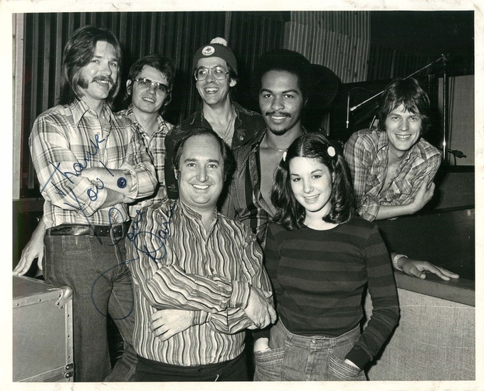 Jay Graydon, David Hungate, Jeff Porcaro, Ray Parker Jr., David Foster, Neil Sedaka and his daughter.