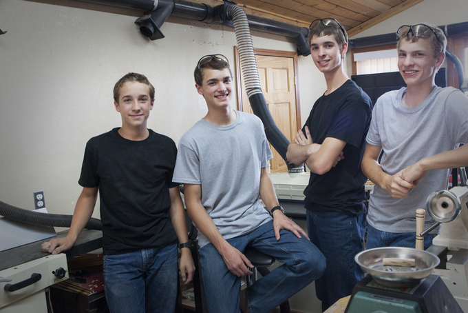 Stephen - age 14, Seth - age 17, Grayson - age 18, Nate - age 16