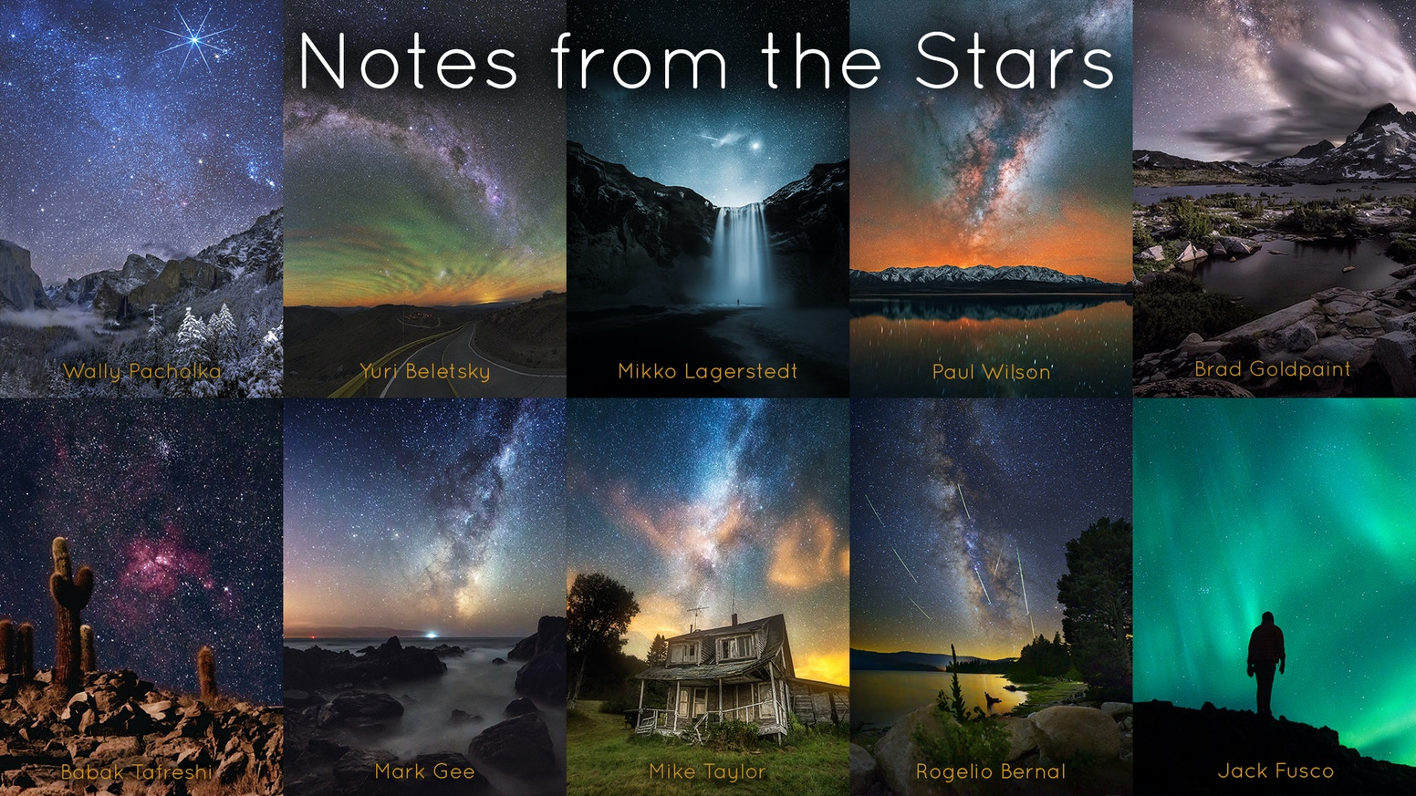 A high-quality hardcover book with ten night photography masterclasses, each written by a world-class, award-winning astrophotographer.