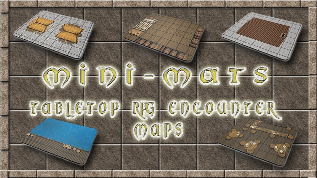 Project image for Mini-Mats - TableTop RPG Encounter Maps - 28mm & 15mm! (Canceled)