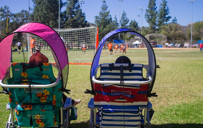 It keeps you cool while you cheer on your child's youth soccer team!