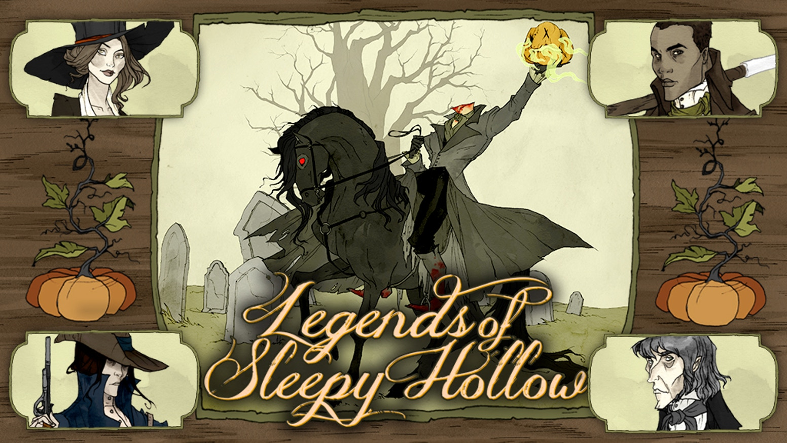 Find Ichabod Crane in this scenario-based cooperative game for 1 to 4 players set three days after Washington Irving's classic tale.