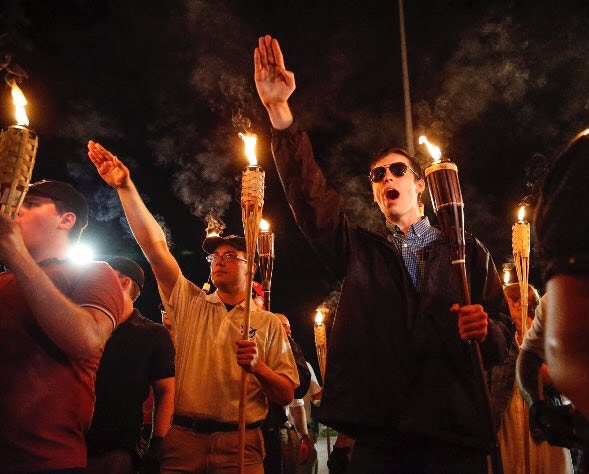 Members of the Alt-right, Charlottesville, 2017.