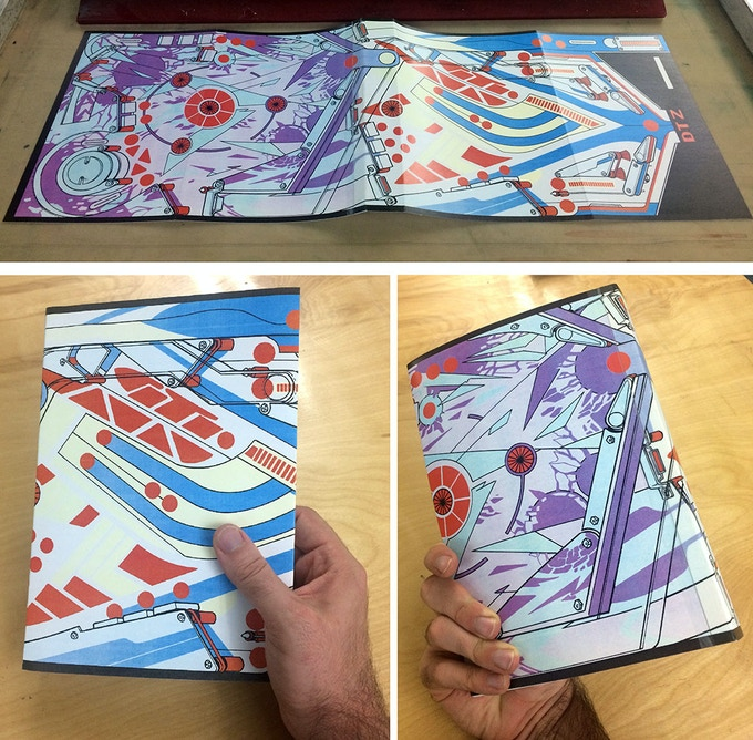 A CMYK-printed mock-up of the dust jacket.
