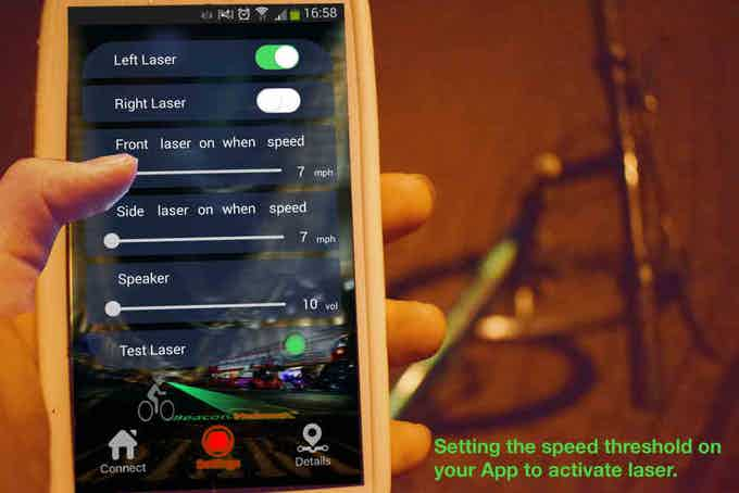 Smart control of laser distraction.