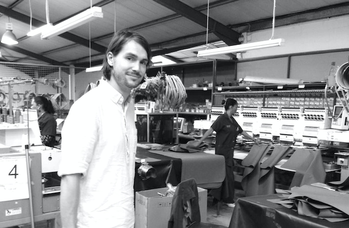 The embroidery section of the factory, Cape Town