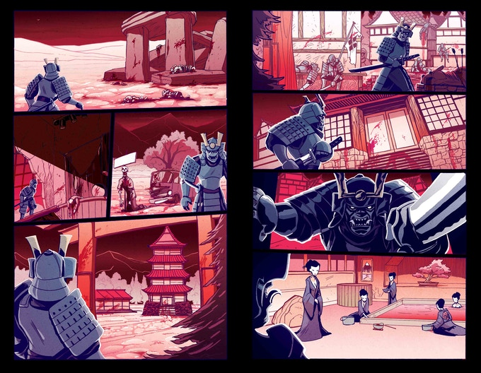 Jim Lavery pages as the Samurai goes where he's never been before... Hell