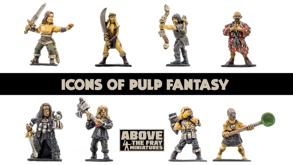 Icons of Pulp Fantasy: 28mm Game Miniatures project video thumbnail
