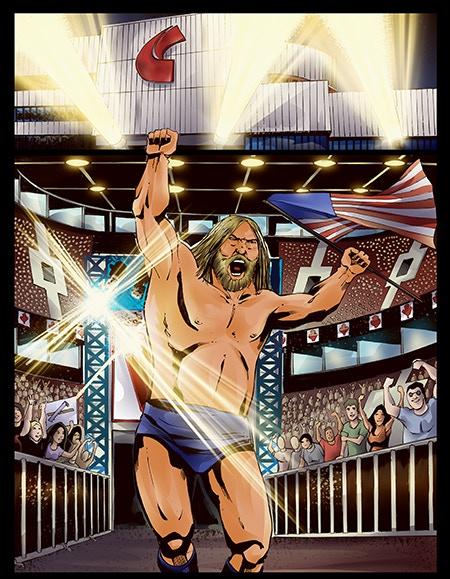 Hacksaw Jim Duggan storms the arena!