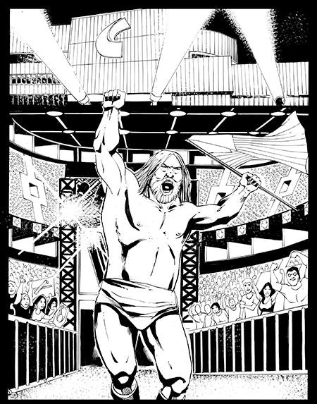"Rich Perotta's Original Page 1 Art - Pencil & Ink on 11"" x 17"" Comic Art Board"