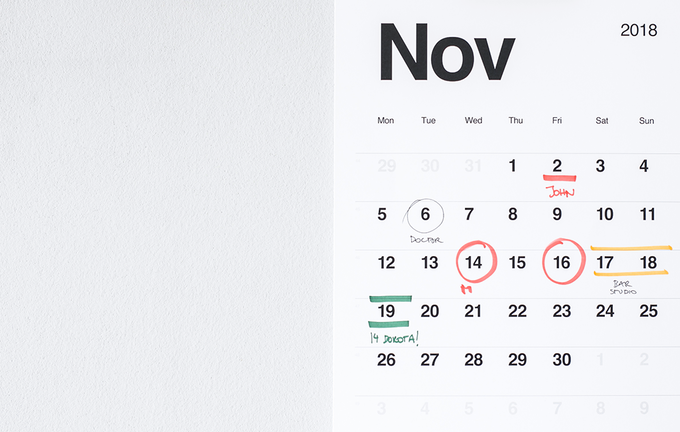The well-planned grid allows enough space for adding text, while remaining very readable, so you have an easy overview of your weekly or monthly plans