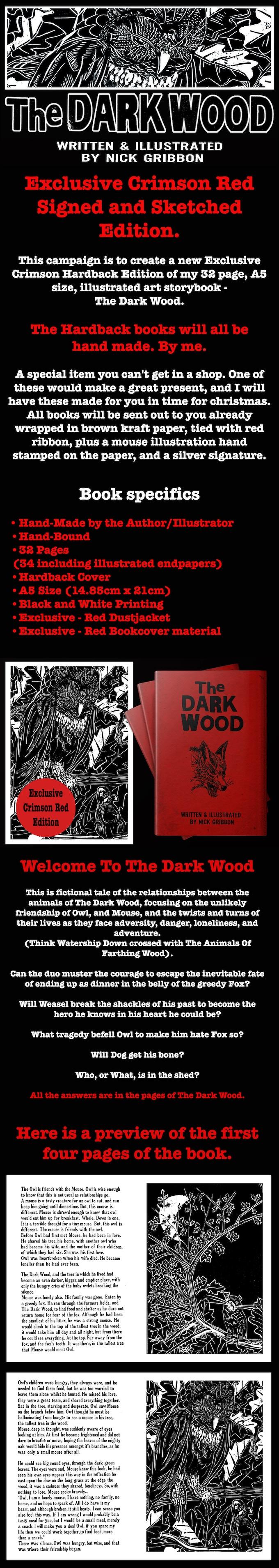 The Dark Wood Hand Bound Book Exclusive Crimson Edition By Nick