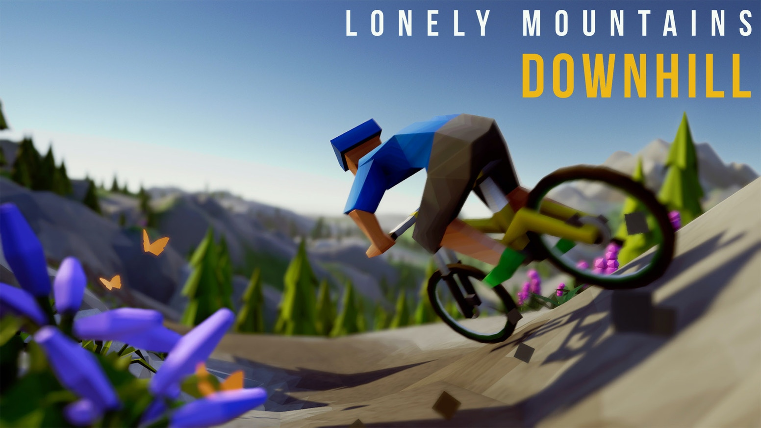 Take your bike and find your own path down unspoiled mountains in this arcade-style mountain biking game for PC and Console coming 2019!