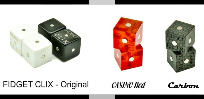 FIDGET CLIX full lineup - Original, Casino and Carbon