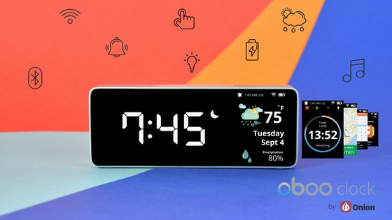 Oboo Smart Clock: WiFi Connected and Gesture Controlled