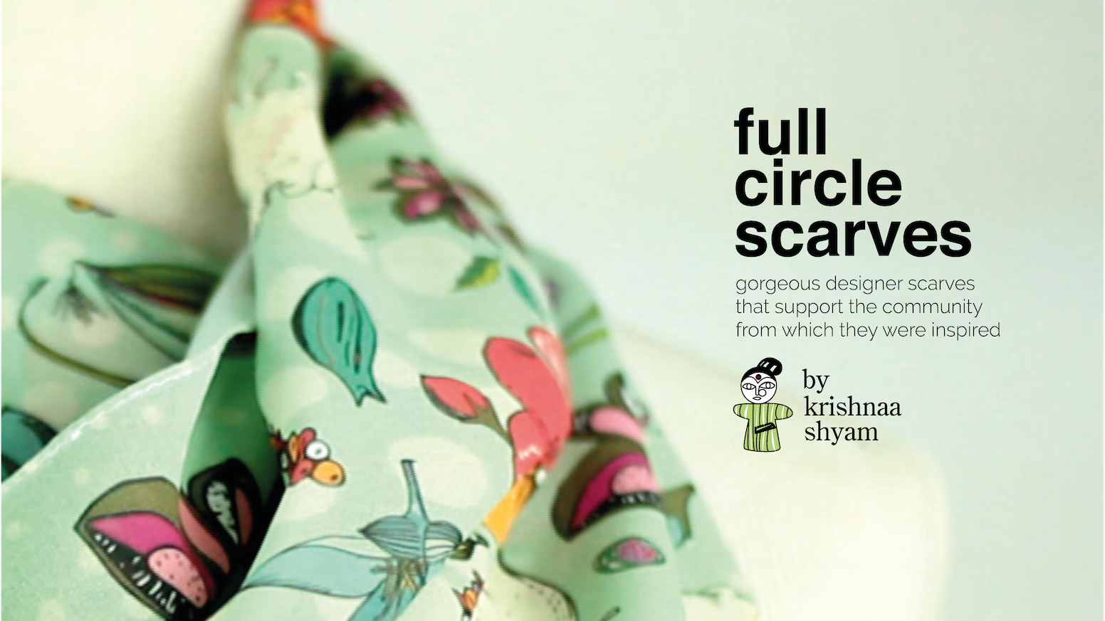 Gorgeous designer scarves that support the community from which they were inspired.