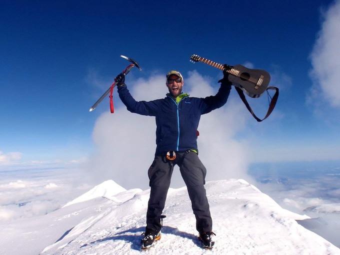 The KLOS Guitar at 20, 310 ft - Summit of Denali