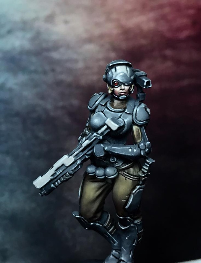 The female Marine from the Gender Variant add on