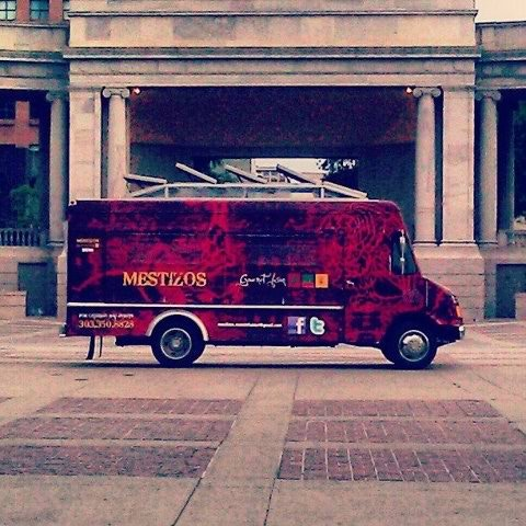 Mestizos Food Truck at Civic Center Park in 2011