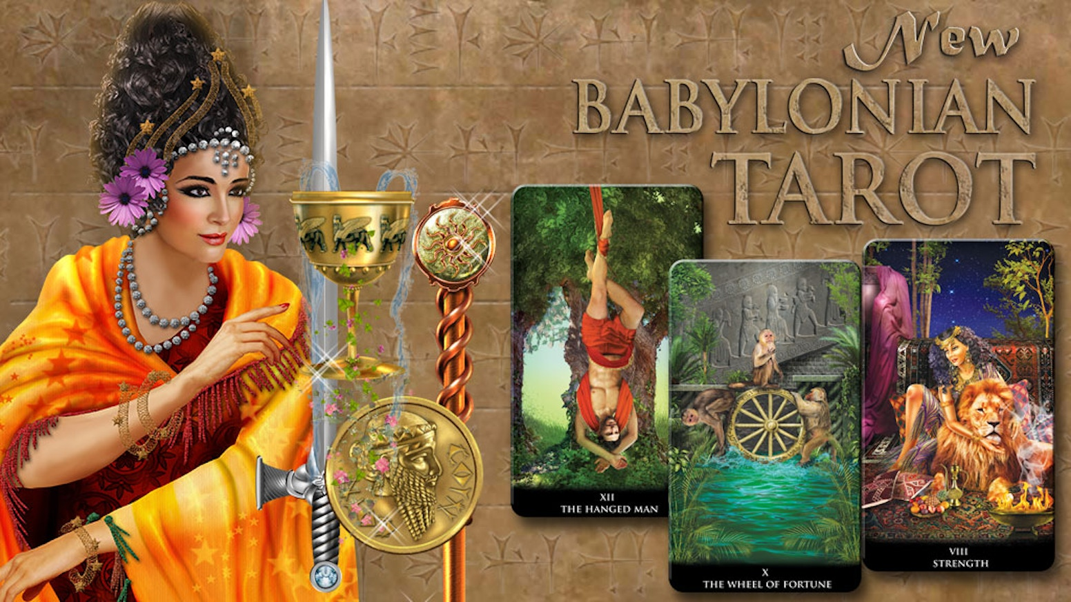 An art-rich tarot deck bringing back Babylonian magical divination ways and rituals