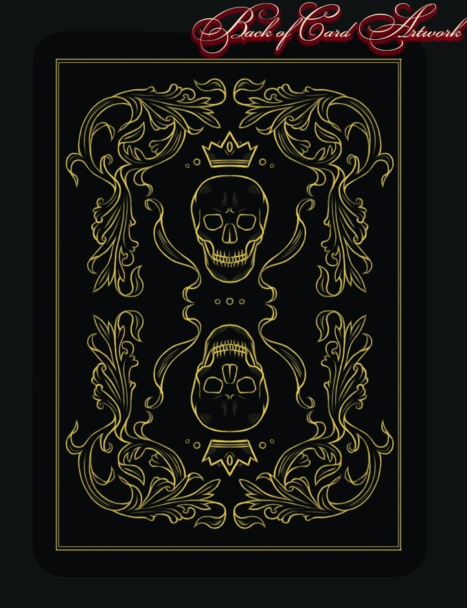 Back of Card Artwork, Printed in Black and Gold colour.